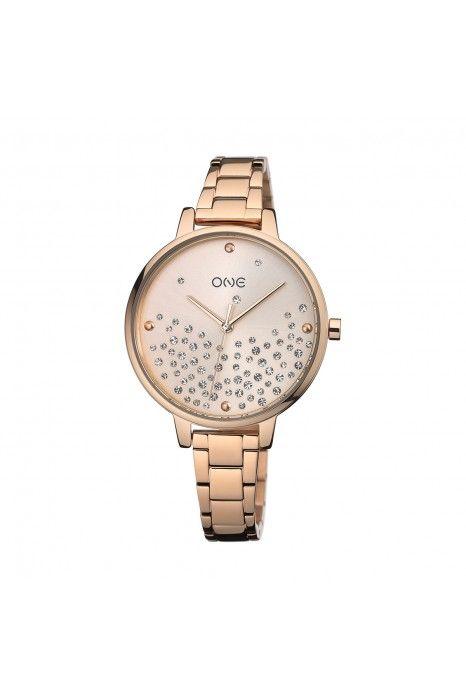Relógio ONE Bright Ouro Rosa