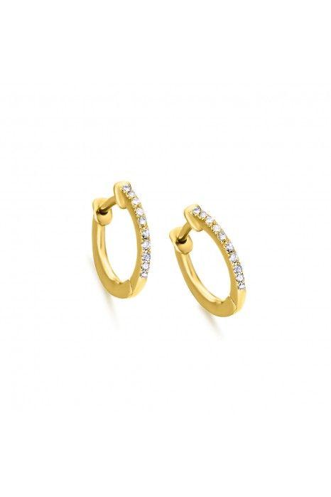 Argolas LECARRÉ ouro 18k diamante 0,06 Q.