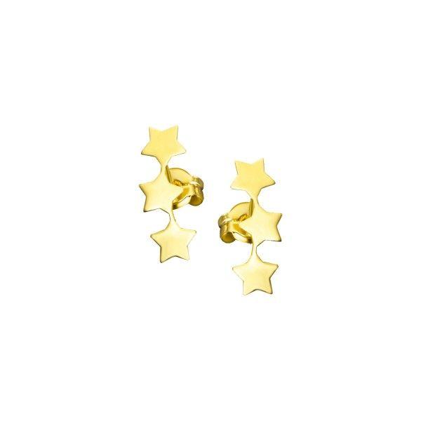 Brincos LE CARRÉ de ouro com 3 estrelas GB018OA.00