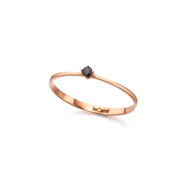 Solitário LE CARRÉ ouro rosa brilhante negro 0.05 Q. GA008OR.13-BL
