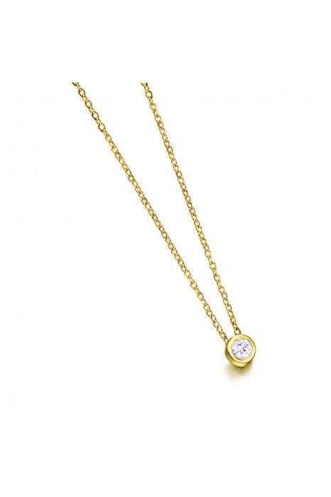 Colar LECARRÉ ouro 18K diamante 0,05 Q.