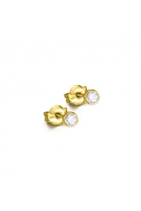 Brincos LECARRÉ ouro 18K diamante 0.10 Q.HSI