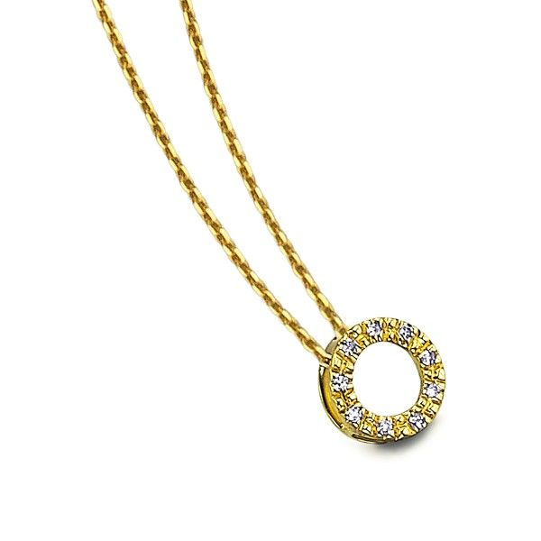 Colar LE CARRÉ círculo ouro amarelo brilhante 0.018 Q. GD026OA.00