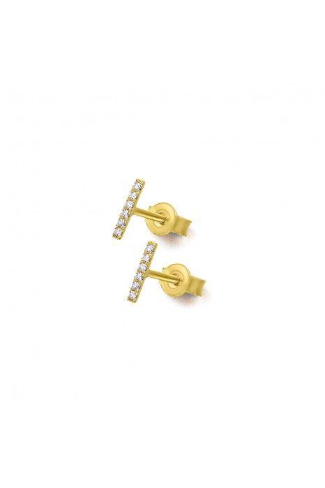 Brincos LECARRÉ ouro 18K diamante 0.05 Q.HSI