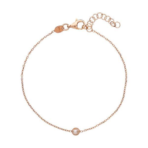 Pulseira ALISIA preta com rose gold AL1119-ROSE-PERLA