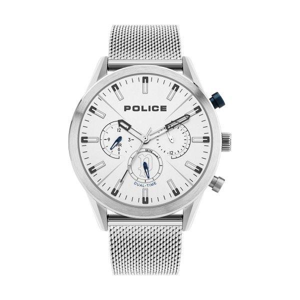 Relógio POLICE Silfra Prateado P16021JS04MM