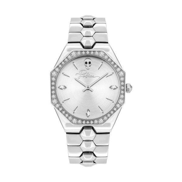 Relógio POLICE WOMAN Montaria Prateado P16038BS04M