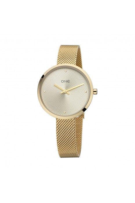 Relógio ONE Unique Dourado