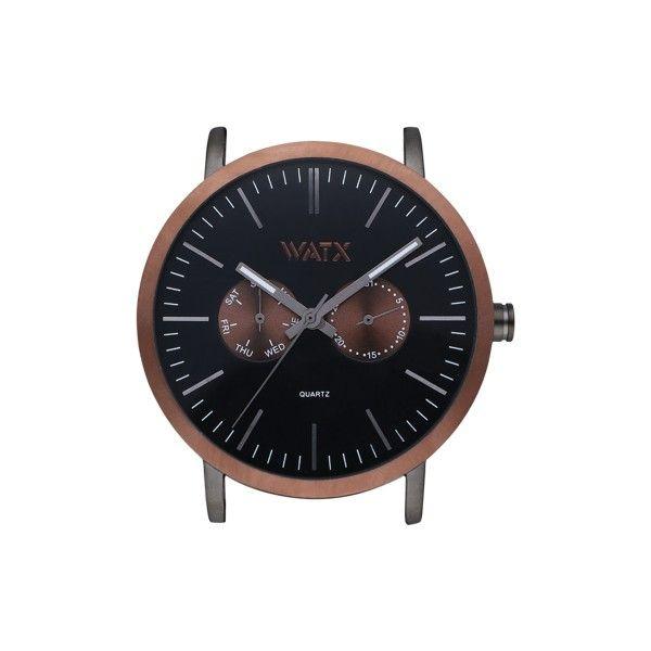 CAIXA WATX ANALOGIC COCOA PRETO 44MM WXCA2749
