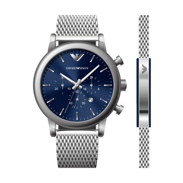 Relógio EMPORIO ARMANI Luigi Prateado AR80038