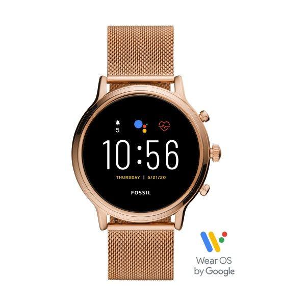 Relógio FOSSIL Q Julianna Hr Smartwatch Ouro Rosa FTW6062