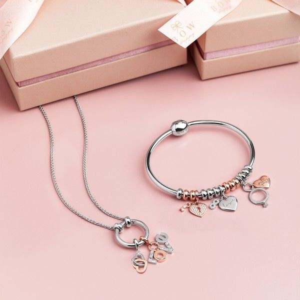 Charm BOW HAPPY Love Stories Lock & Key Rose Gold BH.CH.1110.0029