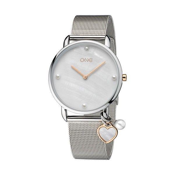 Relógio ONE My Mummy And I Prateado 2020 - Dia da Mãe OL8741BS01L