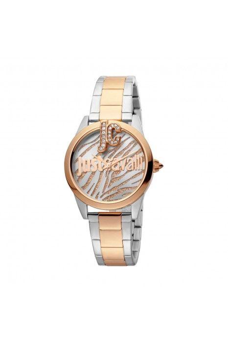 Relógio JUST CAVALLI TIME Just Trama Bicolor Ouro Rosa