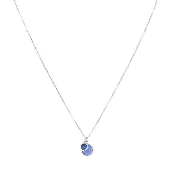 COLAR UNIKE FUN S20 BLUE 2 STONES SILVER UK.CL.0117.0112