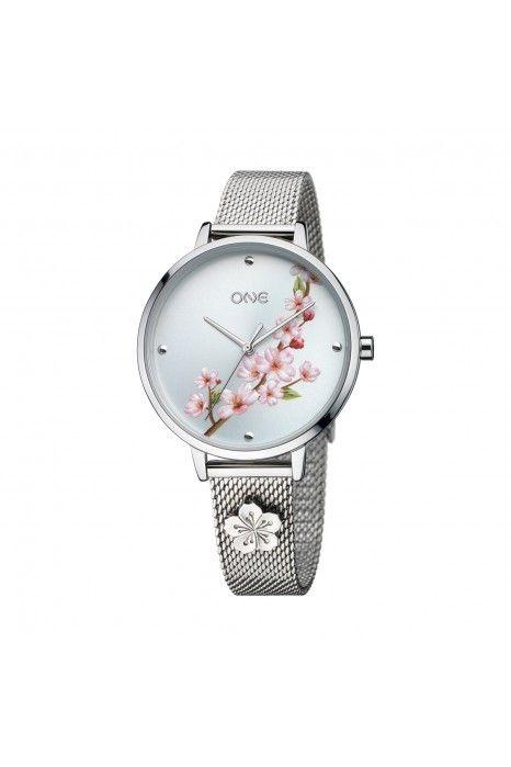 Relógio One Tokyo Prateado / Menta