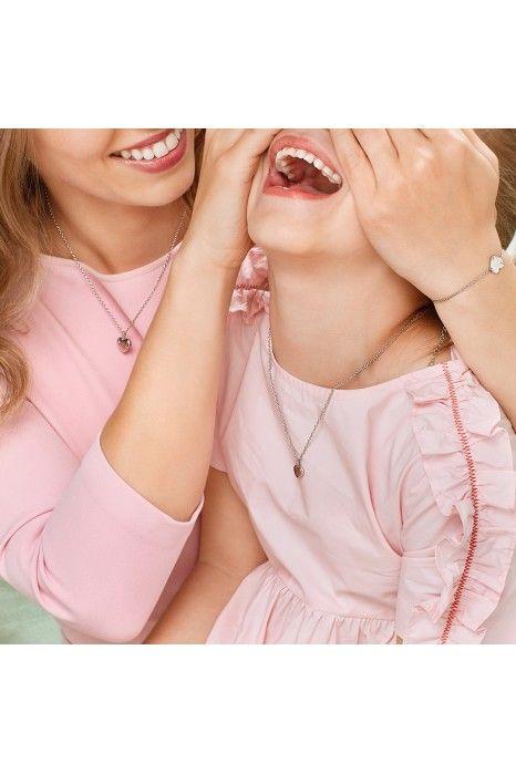 Colar BOW HAPPY Mini Me Mom Heart
