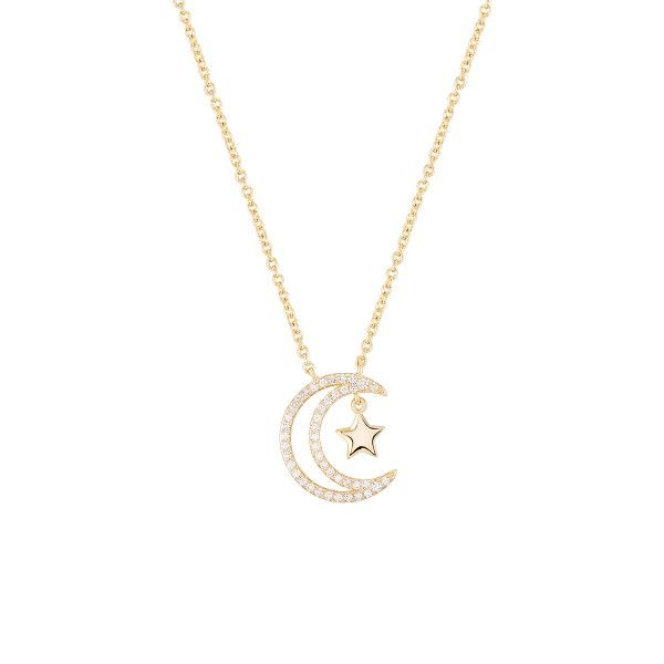 COLAR UNIKE MOON & STARS I GOLD UK.CL.1204.0188