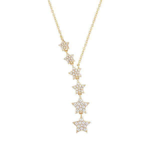 COLAR UNIKE MOON & STARS GOLD STARS UK.CL.1204.0185