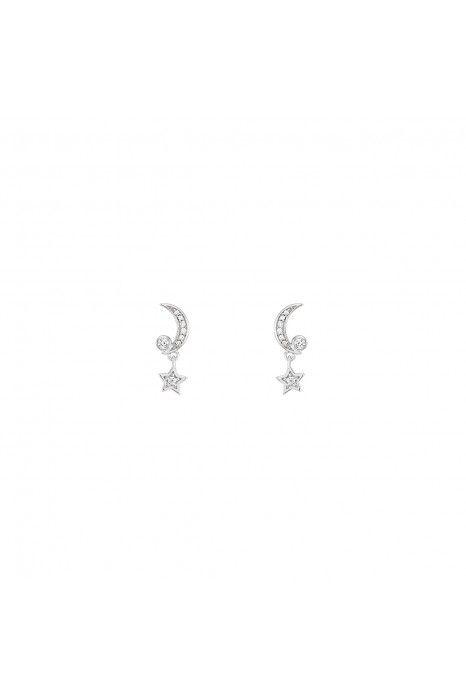 BRINCOS UNIKE MOON & STARS SILVER