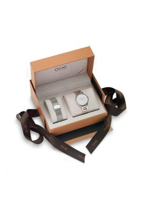 Relógio ONE Box Ilusion Prateado