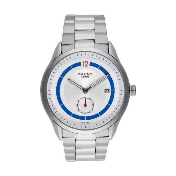 Relógio CAUNY Accura Calendar Prateado CAC005