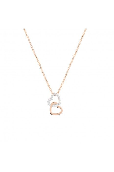 COLAR BOW HAPPY LOVER´S HEART X_ROSE GOLD