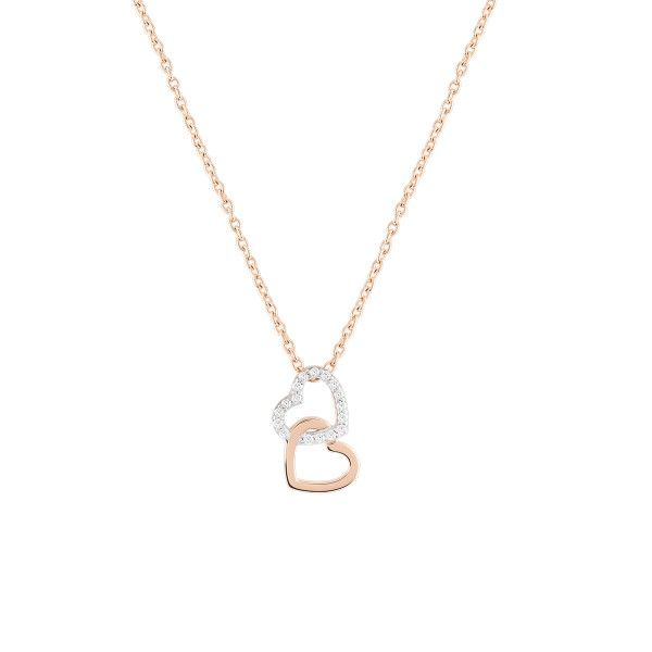 COLAR BOW HAPPY LOVER´S HEART X_ROSE GOLD BH.CL.1203.0039