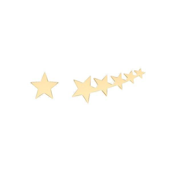 BRINCO UNIKE MIX & MATCH ASSIMETRICO ESTRELAS GOLD UK.BR.0117.0033