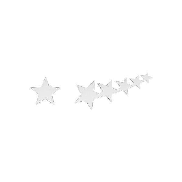 BRINCO UNIKE MIX & MATCH ASSIMETRICO ESTRELAS SILVER UK.BR.0117.0032