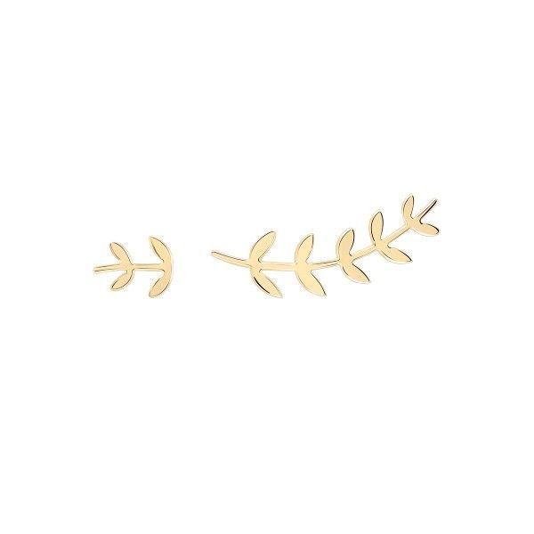 BRINCO UNIKE MIX & MATCH ASSIMETRICO FOLHAS GOLD UK.BR.0117.0035