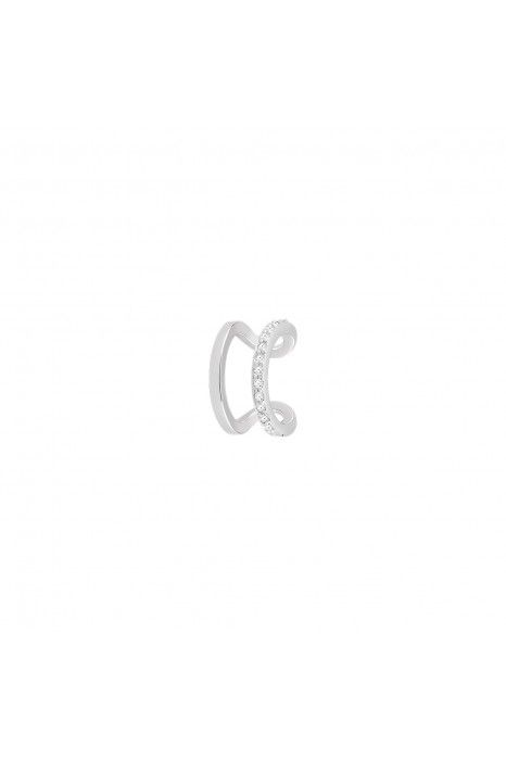 BRINCO UNIKE MIX & MATCH EAR CUFF 2 LINES II SILVER