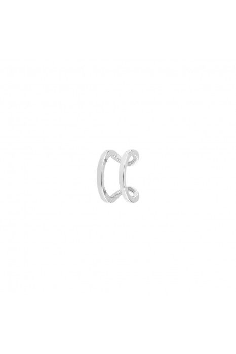 BRINCO UNIKE MIX & MATCH EAR CUFF 2 LINES I SILVER