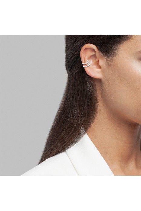 BRINCO UNIKE MIX & MATCH EAR CUFF 2 LINES I SILVER