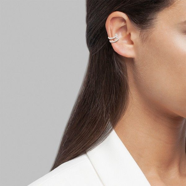 BRINCO UNIKE MIX & MATCH EAR CUFF 2 LINES II SILVER UK.BR.0117.0027