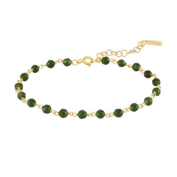 PULSEIRA UNIKE FUN W20 BEADS GREEN GOLD UK.PU.0117.0124