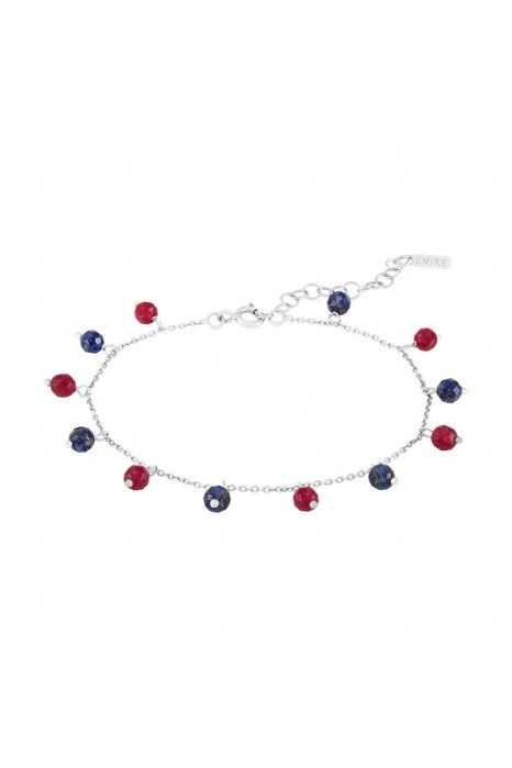 PULSEIRA UNIKE FUN W20 BEADS BLUE& RED GOLD
