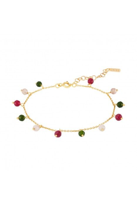 PULSEIRA UNIKE FUN W20 BEADS GREEN & RED GOLD
