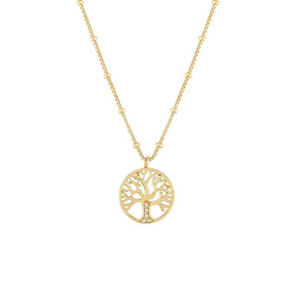 COLAR LUCKY ELEPHANT TREE OF LIFE GOLD I LE.CL.1113.0002