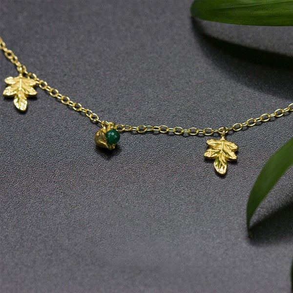 COLAR LUCKY ELEPHANT NATURE COLLECTION - GREEN FLOWER LE.CL.1113.0003