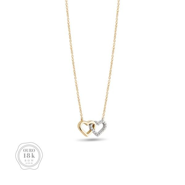COLAR BOW GOLD TWO HEARTS II BW.CL.0118.0002