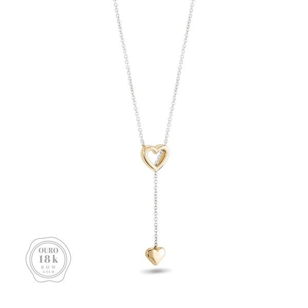 COLAR BOW GOLD TWO HEARTS III BW.CL.0118.0006