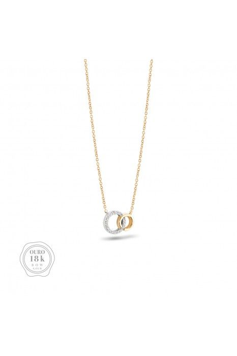 COLAR BOW GOLD TWO CIRCLES I