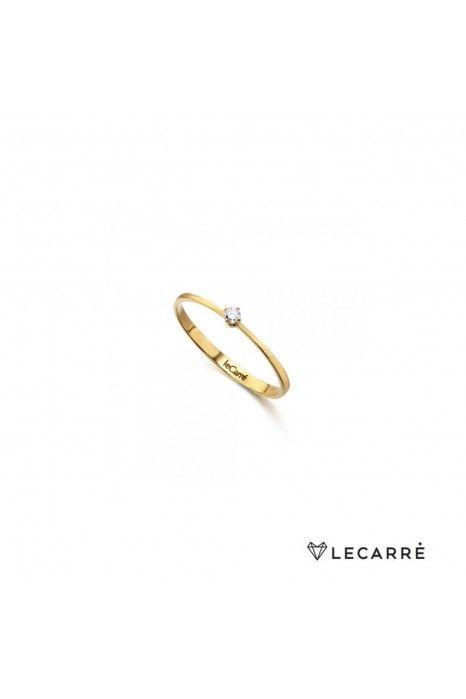 Solitário LECARRÉ ouro 18K diamante 0.05 Q.HSI
