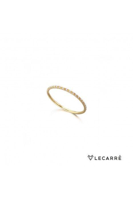 ANEL LECARRÉ ouro 18K diamante 0,04 Q.HSI