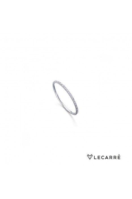 Aliança LECARRÉ ouro 18k diamante 0.04 Q.HSI