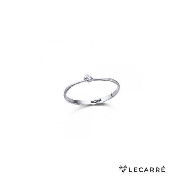 ANEL LECARRÉ ouro 18k diamante 0,05 Q.HSI GA008OB.10