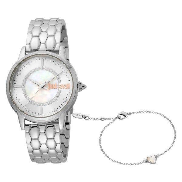 Relógio Just Cavalli Valentines Prateado JC1L149M0035