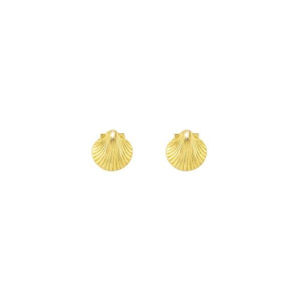 BRINCOS UNIKE FUN S21 SHELL GOLD UK.BR.0117.0038