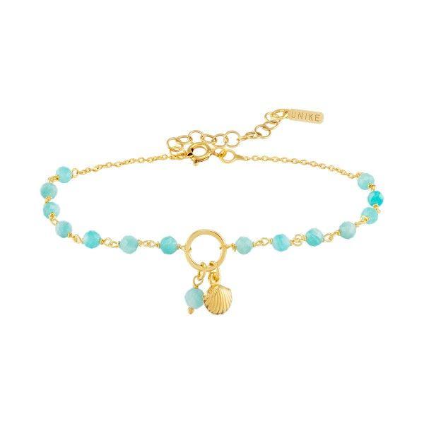 PULSEIRA UNIKE FUN S21 BEADS BLUE SHELL GOLD UK.PU.0117.0136